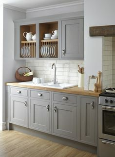 Uplifting Kitchen Remodeling Choosing Your New Kitchen Cabinets Ideas. Delightful Kitchen Remodeling Choosing Your New Kitchen Cabinets Ideas. Country Kitchen Farmhouse, Modern Farmhouse Kitchens, Kitchen Rustic, Farmhouse Kitchen Cabinets, Kitchen Cabinet Design, Grey Kitchen Inspiration, Grey Kitchens, Small Kitchens, Küchen Design