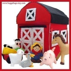 COUNTRY FARM  PDF Pattern Barn Barnyard Farmer Wagon por BuggaBugs