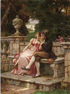Német Műfaj Painter Wilhelm Menzler Casel (1846-1926) ~ művészek és művészet