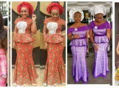 See Latest New Aso ebi Styles Picture Designs From Bella Naija Nigeria