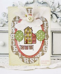 Amazing Grace Card by Melissa Phillips for Papertrey Ink (July 2013)