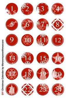 Christmas Calendar - cut it out DIY Ideas - by Christmas Calendar - cut it out Christmas Calendar, Noel Christmas, Christmas Crafts, Christmas Decorations, Xmas, Calendar Numbers, December Daily, Christmas Inspiration, Printables