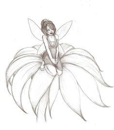Easy Fairy Drawing, Fairy Wings Drawing, Fairy Drawings, Angel Drawing, Art Drawings Sketches, Pencil Drawings, Fairy Sketch, Fairy Silhouette, Fairy Tattoo Designs