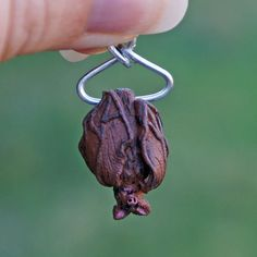 Miniature Hanging Bat Sculpture Spooky Dollhouse by jellybeanminis, $12.00