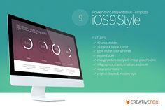 iOS 9 Style PowerPoint Template by Creative Fox on @creativemarket