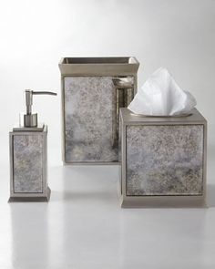 "Master bath: ""Palazzo Vintage"" Vanity Accessories by Kassatex at Horchow."