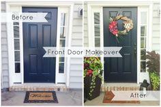 Front Door Makeover - Before & After