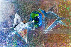 Hologram paper art bird protect the earth.  #mamigibbs.gettyimages