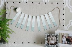 Paint Chip Garland - do in rainbow colors for Sascha's rainbow birthday party!