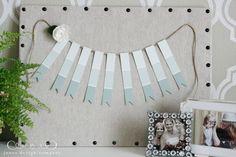 paint chip ribbon garland