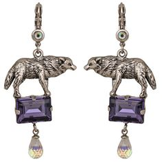 Direwolf Leverback Earrings: Kirks Folly Online Web Store