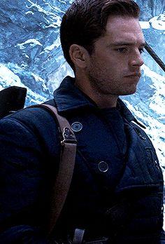 Marvel Films, Marvel Characters, Bucky Barnes, Sebastian Stan, Steel Blue Eyes, Captain America Movie, James Barnes, Winter Soldier Bucky, Cute Actors