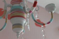 Project Nursery - DIY Yarn Bombed Chandelier