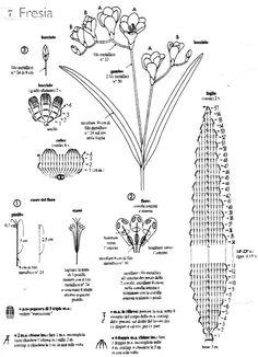 схема вязания и сборки фрезии