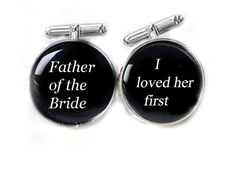 Black Father of the Bride Cufflinks Customize Name by JSCJewelry, $35.00