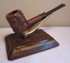 Vintage Rustic Straight Panel Style Imported Briar Estate Tobacco Smoking Pipe