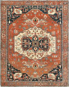 "ANTIQUE SERAPI Origin: PERSIA Size: 10' 10"" x 13' 8"" Rug ID # 803 Add to wishlist"