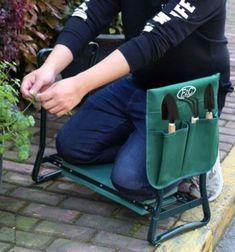 LEMY Garden Kneeler Seat Multiuse Portable Garden Bench Garden Stools Fordable Stool with Tool Bag Pouch EVA Foam Pad x 10 x 19 Kneeling Stool, Portable Stool, Fathers Day Pictures, Best Garden Tools, Tool Pouch, Gifts For Father, Amazing Gardens, Bench, Bags