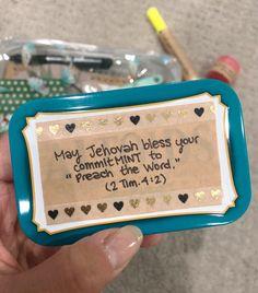 You do things… Pioneer School Gifts Jw, Pioneer Gifts, Jw Gifts, Cute Gifts, Jw Convention, Jw Pioneer, Volunteer Gifts, Spiritual Gifts, Appreciation Gifts