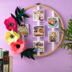 Puedes tener un detalle muy tierno con una persona especial, con este bonito Marco de Fotos en Basti Diy Room Decor Videos, Cute Diy Room Decor, Diy Bedroom Decor, Diy Home Decor, Decor Crafts, Decor Room, Room Decorations, Diy Crafts To Do, Diy Art