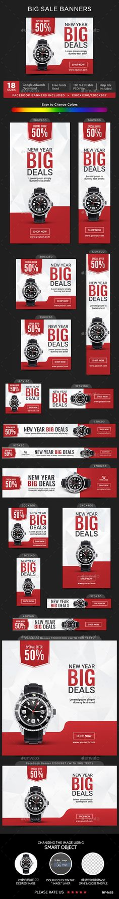 Big Sale Banners Template PSD #ads