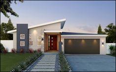 australian house design - Google Search House Front Design, Small House Design, Modern House Design, Bungalow Haus Design, Modern Bungalow House, Facade House, House Roof, House Facades, New House Plans