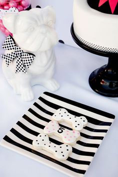 Ideas for a Black and White Puppy-Themed Kids Party