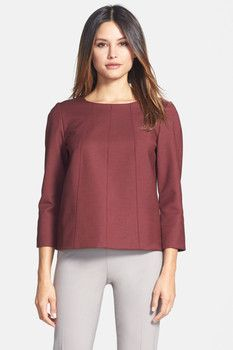 Lafayette 148 New York 'Lyza' Blouse Subtle Ombre, Shirt Blouses, Shirts, Lafayette 148, Blouses For Women, Tunic Tops, York, Sleeves, Cotton