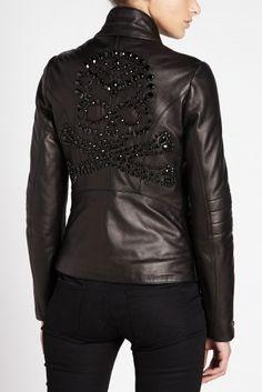Philipp Plein 'Rock Skull' Leather Jacket
