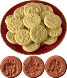 JBK Pottery Cookie Stamp Set - Nature: Home & Kitchen