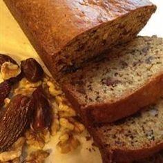 Date, orange and walnut loaf