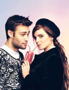 British actors Douglas Booth and Emma Watson are photographed by Christian Oita and styled by Matthew Josephs for the February/March 2014 issue of Wonderland magazine. Douglas Booth, Emma Watson, Harry Potter Film, Pretty People, Beautiful People, Johny Depp, Daniel Radcliffe, British Actors, Friend Pictures