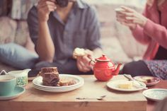 The way all tea should be experienced - with baked goods and friends!