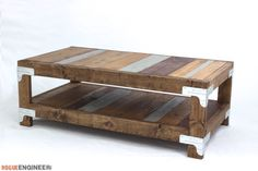DIY Industrial Coffee Table | FREE plans | Rogue Engineer