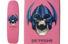 METAL!!! Per Welinder pro model from Powell Peralta in 1984.  Designed by V. Courtlandt Johnson.