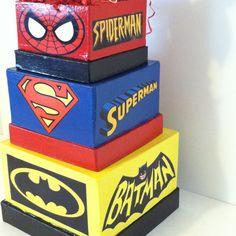 Superhero Birthday Centerpiece by BabycakesCakeToppers on Etsy Valentine Boxes For School, Valentines For Boys, Hulk Birthday, 5th Birthday, Birthday Ideas, Raffle Box, Marvel Wedding, Wonder Woman Party, Superhero Theme Party