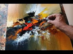 Abstract painting / EASY / Blending / Palette knife demonstration - YouTube