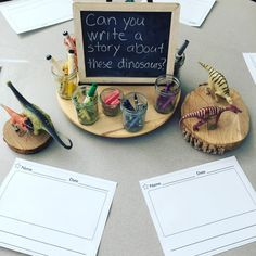 Discover recipes, home ideas, style inspiration and other ideas to try. Year 1 Classroom, Eyfs Classroom, Classroom Design, Classroom Decor, Writing Area, Writing Station, Writing Centers, Writing Table, Dinosaur Activities
