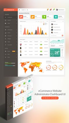 <p>Download eCommerce Website Administrator Dashboard UI Free PSD. Website or Application Dashboards are the main interface between the application and the user hence dashboards needs a good and clear design. So today's Freebie is a dashboard that has a f