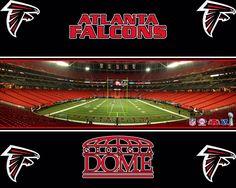 Atlanta Falcons Stadium - The Georgia Dome Atlanta Falcons Stadium, Atlanta Falcons Rise Up, Falcons Game, Falcons Football, Football Stadiums, Football Pics, Football Season, Football Team
