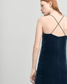 Velvet Strap Dress - Winter Collection - Shop Woman - Filippa K