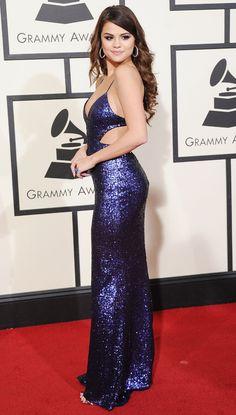 Selena Gomez en robe Calvin Klein Collection aux Grammy Awards 2016