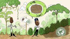 Herr Bohne im Land der Kaffee-Siegel Bio Siegel, Food Truck, Fairtrade, Kiosk, Container, Coffee, Products, Cup Of Coffee, Animated Cartoon Movies