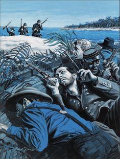 GIL COHEN - Soldiers on the Shore - item by illustratedgallery Male Magazine, Magazine Art, Fort Washington, Global Art, Art Market, Statue Of Liberty, Gallery, Illustration, Artwork