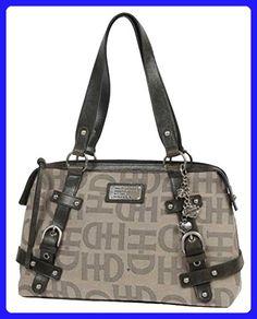 b554b987db Harley-Davidson Women's Jacquard Classique Leather Bag, Tan/Black  TJ8927J-TANBLK -