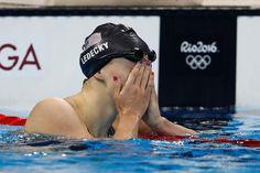 Pin for Later: Die Olympioniken haben die Nägel schön Katie Ledecky, Schwimmen, USA