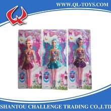 11.5 inches Vinyl Plastic Girl Doll Toys Butterfly Angel Fairy Fashional Baby Doll