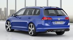 Volkswagen's Golf R hot hatch has been given a practical, wagon makeover for the Los Angeles Auto Show. The Golf R Wagon will sprint from km/h mph) in just seconds, but still has space for the family in the back – and their dog in the boot. Volkswagen Golf Variant, Volkswagen Golf R, Vw Golf Variant, Vw Golf R, Car Guide, New Sports Cars, Premium Cars, Car Magazine, Performance Cars
