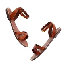 The perfect flat sandal. Crisscross boardwalk sandal, Madewell, $60