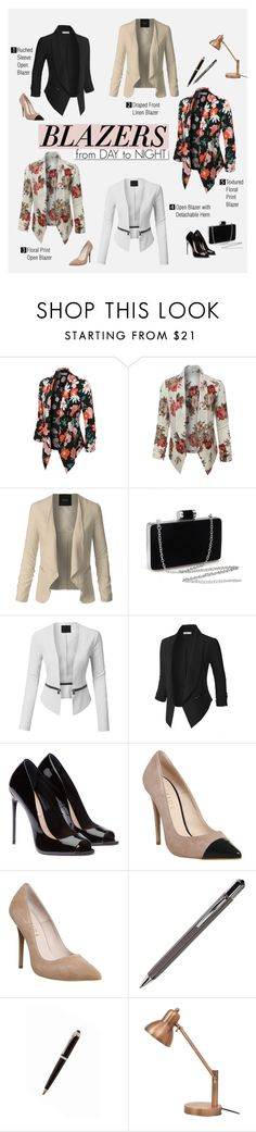 Blazers for Day & Night by le3noclothing on Polyvore featuring LE3NO, Office, ICE London and White Label